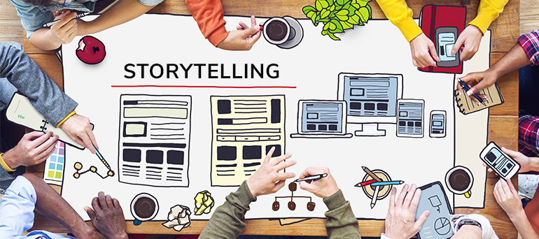 Storytelling to create a brand